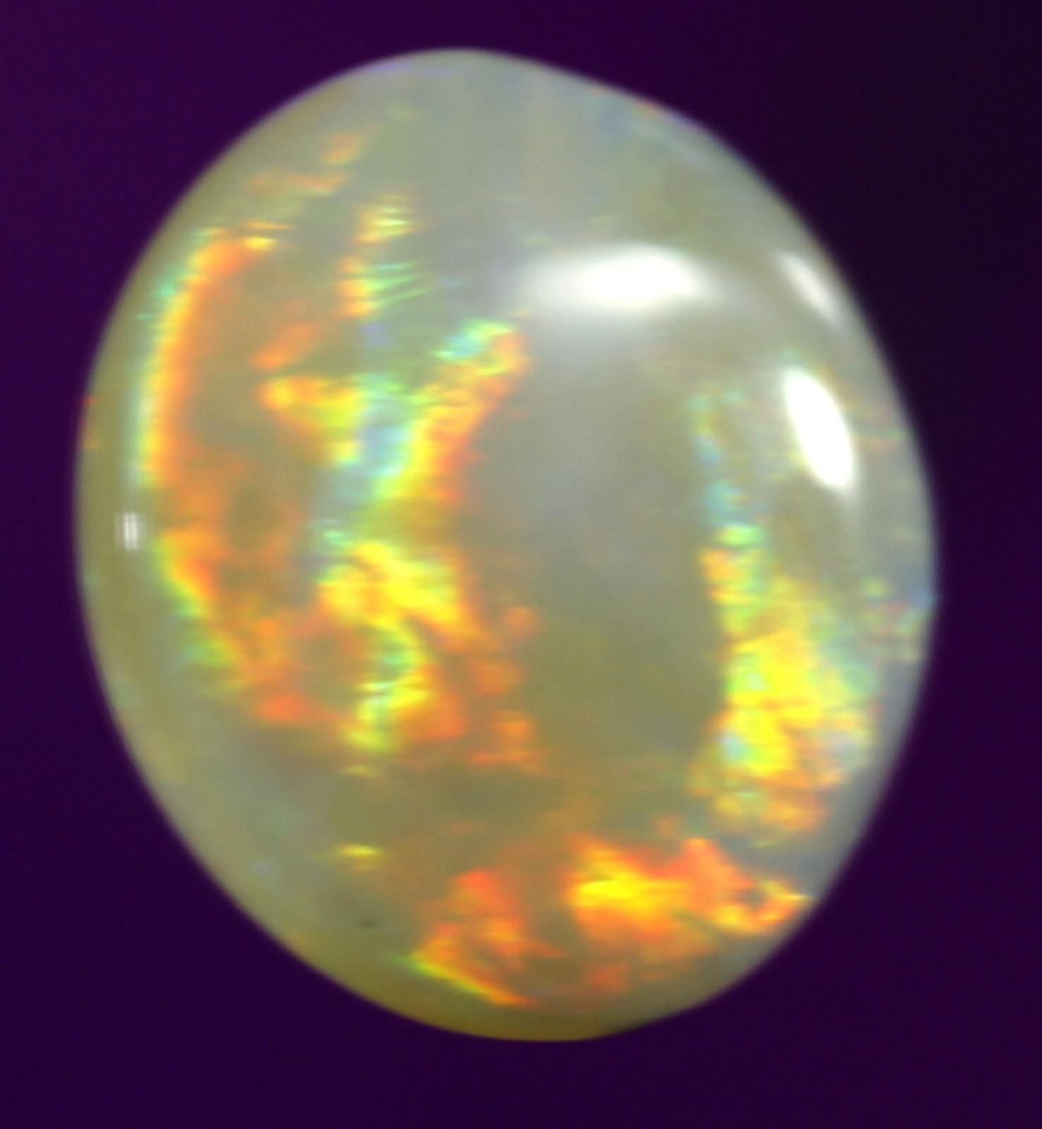 Australia 1.2ct Black Opal Lightning Ridge